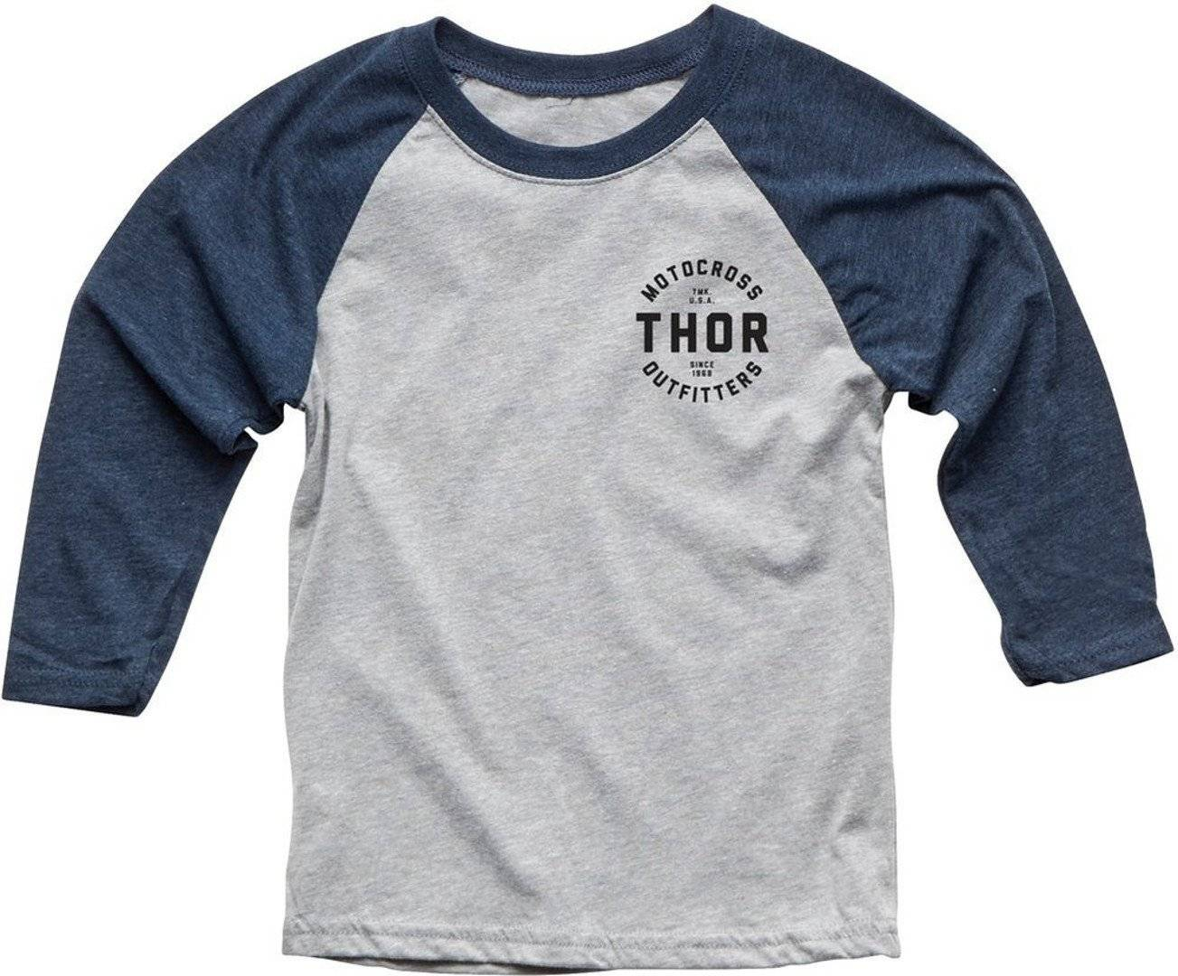 Thor Outfitters 3/4 Sleeve Youth t-shirt Grigio Blu XL