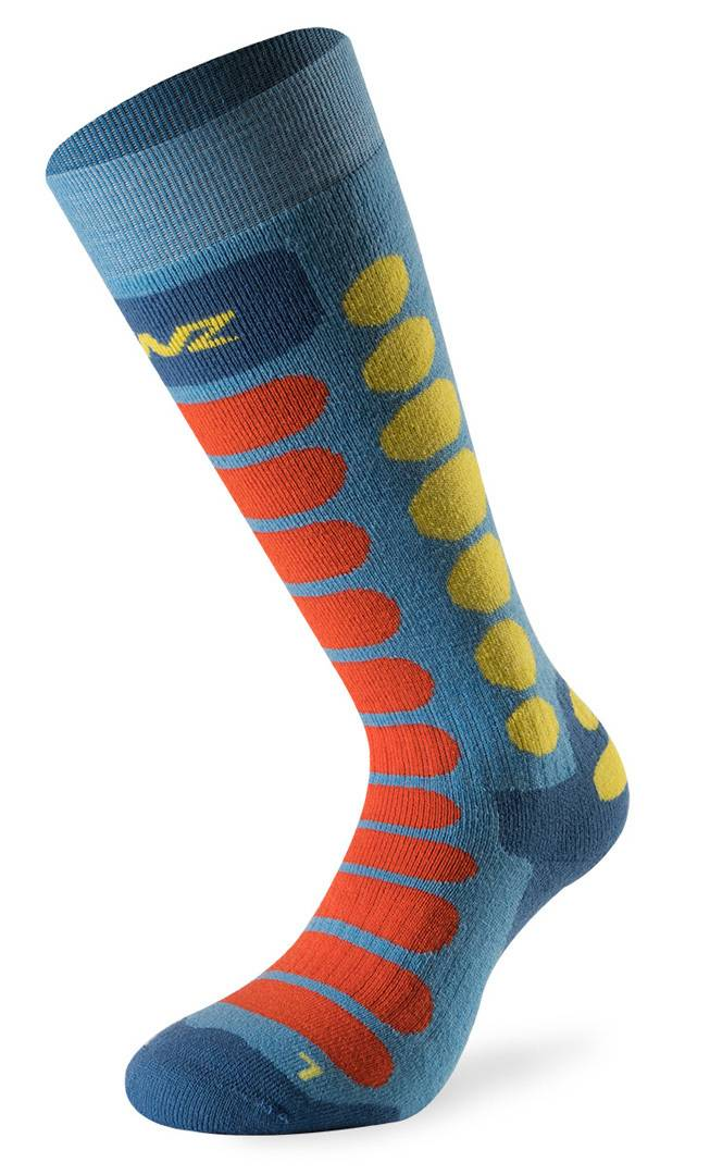 Lenz Skiing 1.0 Junior Socks Calzini Junior Rosso Blu S