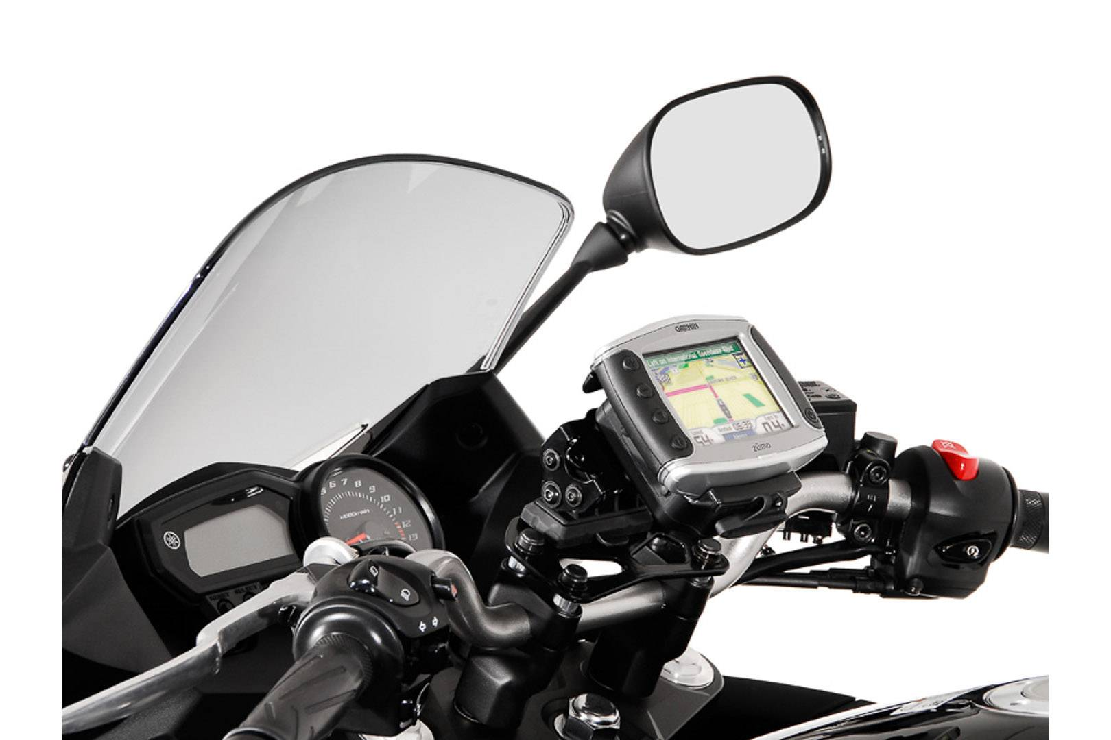SW-Motech Honda/ Triumph/ Yamaha Montaggio GPS per Manubrio (nero)