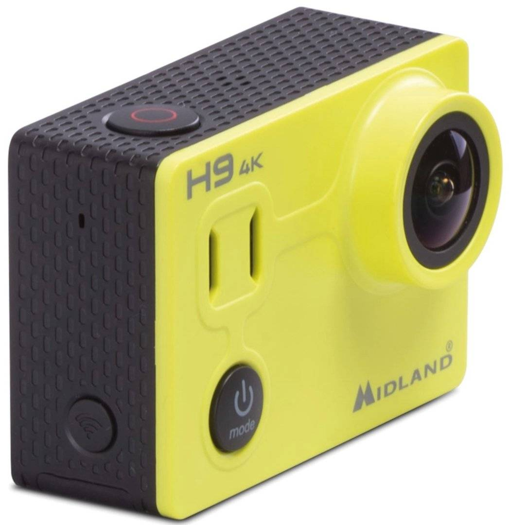 Midland H9 4K Ultra HD Action Camera Giallo unica taglia