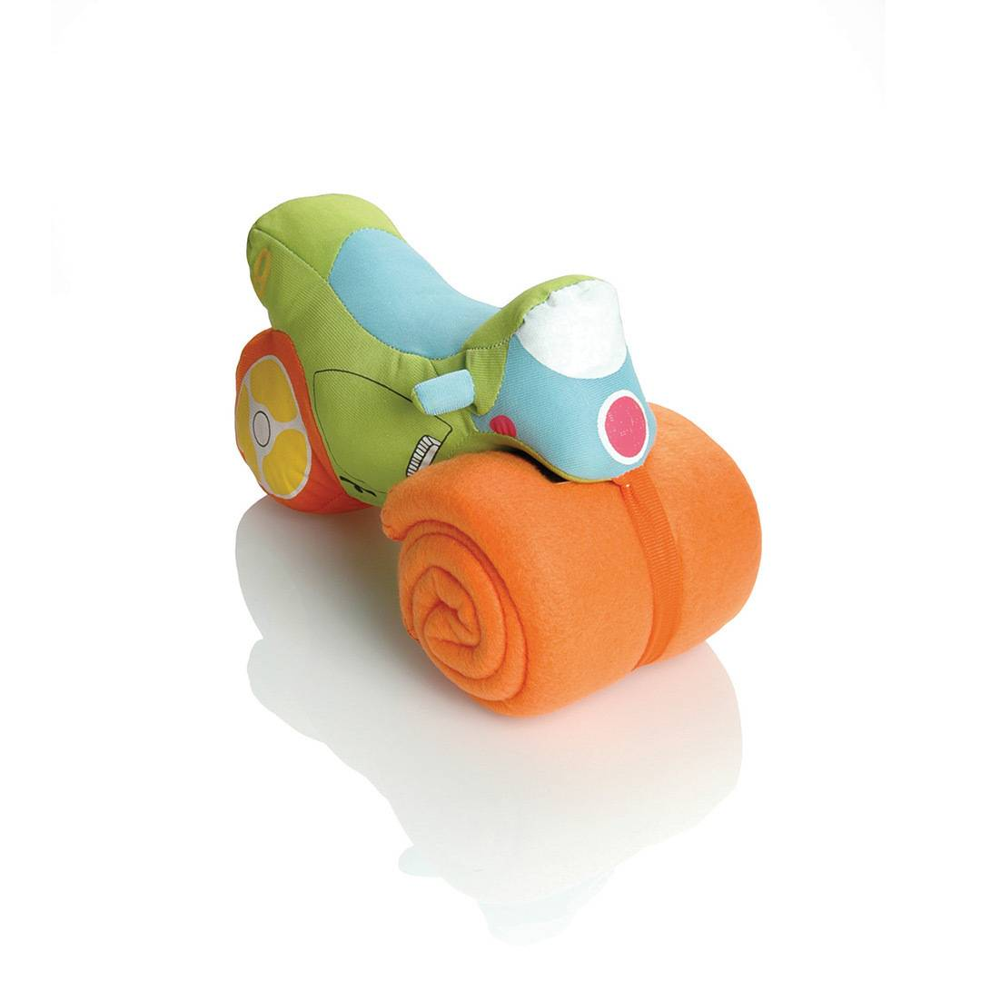 Booster Plush Motorbike with Soft Fleece Towel Verde