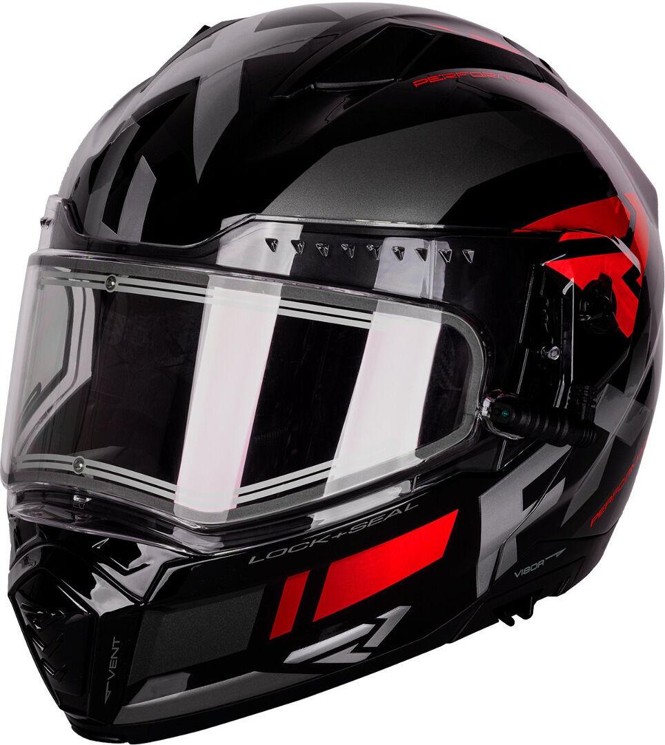 FXR Maverick Modular Team Casco da motoslitta Nero Rosso L