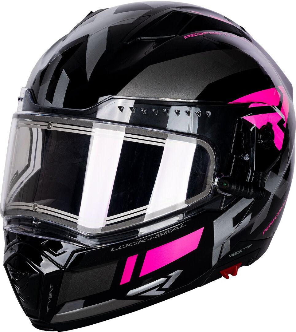 FXR Maverick Modular Team Casco da motoslitta Nero Rosa S