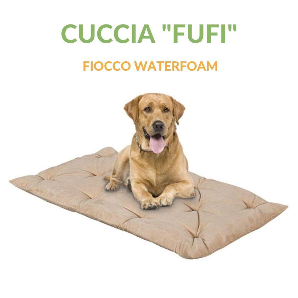 evergreenweb letto per cani alto 8 cm lavabile materasso multiuso per animali domestici cuscino ortopedico in waterfoam cuccia tappeto sofa imbottitura 100% fiocco effetto piuma tessuto beige