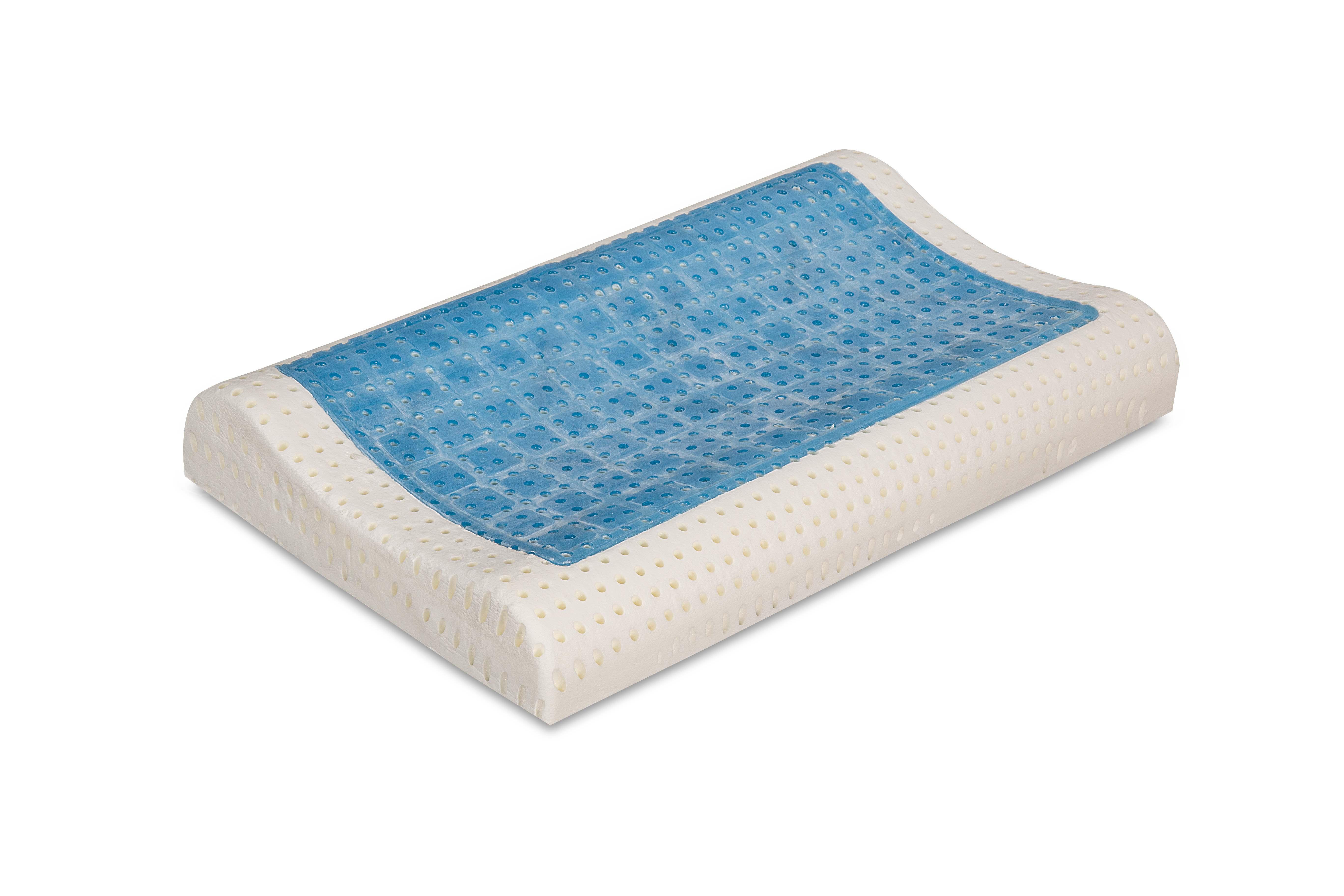 evergreenweb cuscino cervicale memory gel tessuto coolmax
