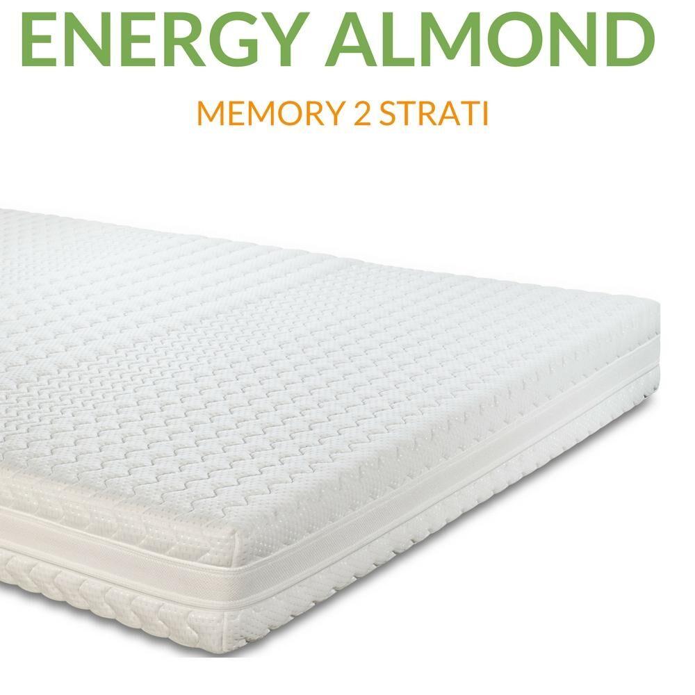 evergreenweb materasso memory foam ortopedico sfoderabile 4 lati anallergico h20cm   energy almond   prezzi a partire da