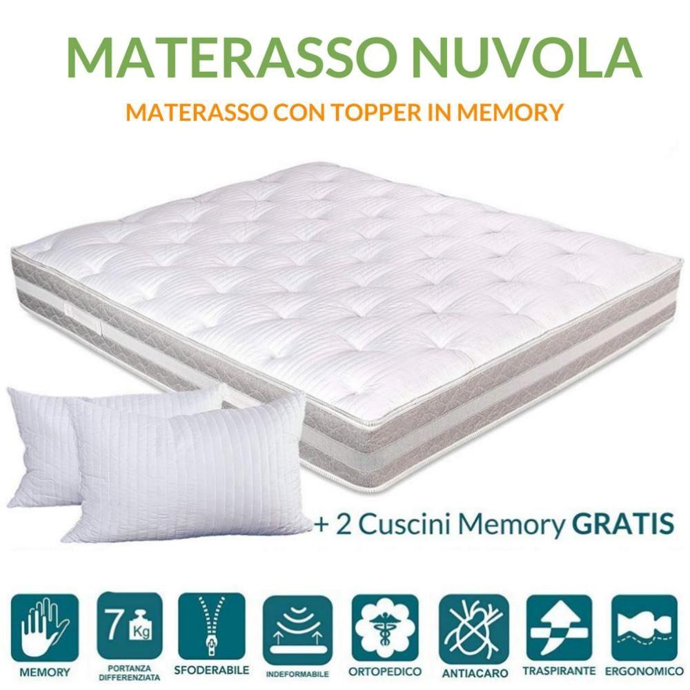 Evergreen Web Materasso Memory Mare Plus 24 Matrimoniale.Cerchi Materasso King Size Topper X Alto Cm Dinaflex