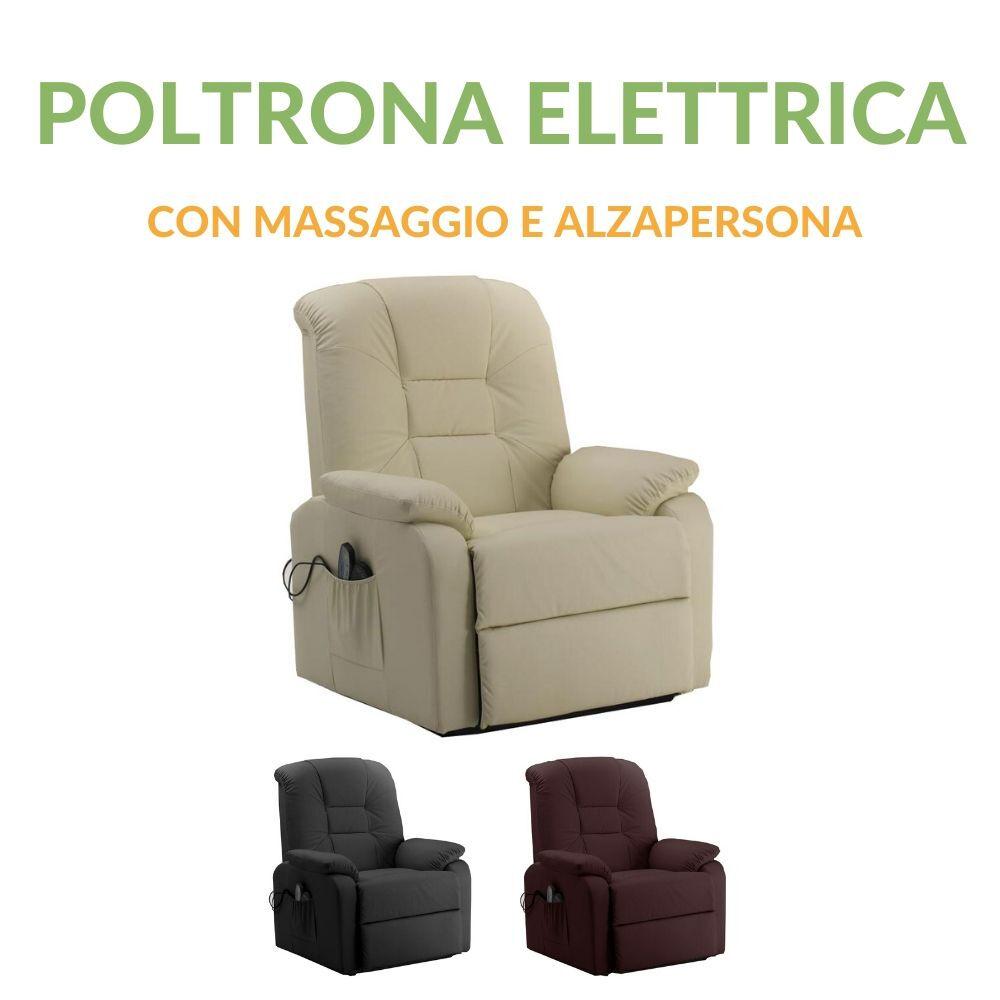 evergreenweb poltrona elettrica relax con massaggio e alzapersona