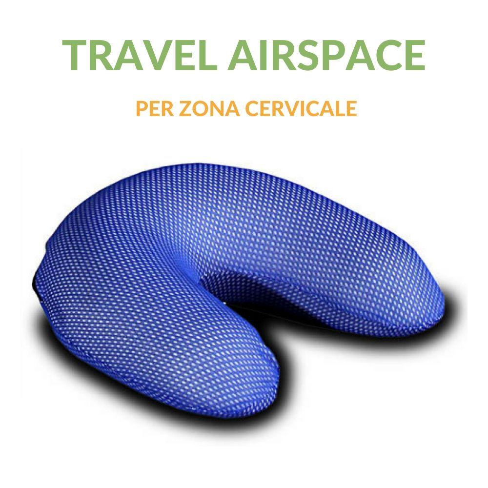 evergreenweb cuscino cervicale travel con tessuto in airspace