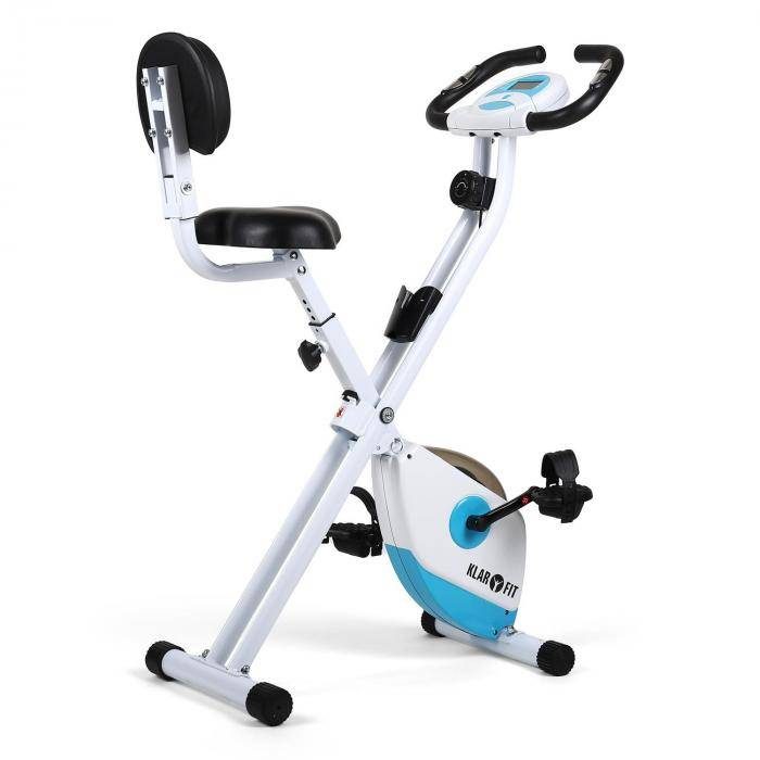 Klarfit X-Bike 700 Cyclette richiudibile bianco turchese
