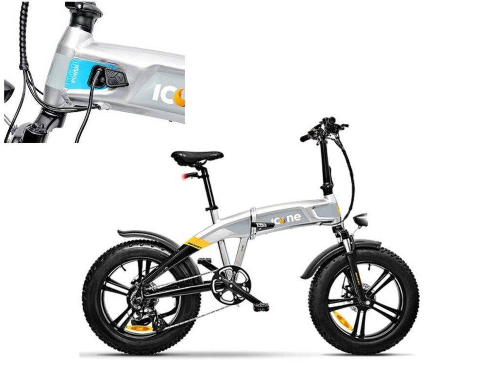 Icone Bicicletta Pieghevole Elettrica X5 Idesert Stardust Silver 221503