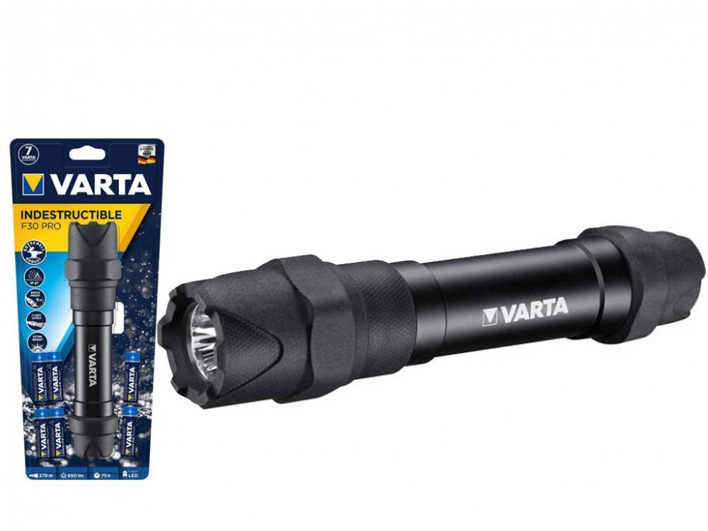 varta torcia a led indestructible f30 pro 18714