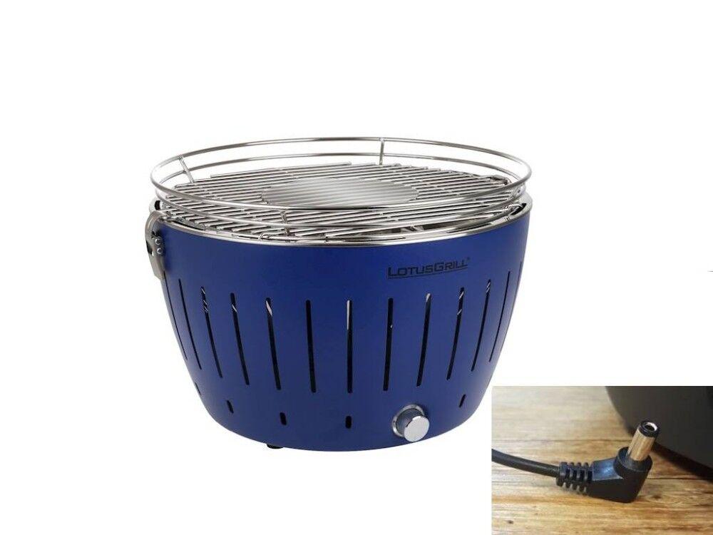lotusgrill barbecue a carbonella portatile blu lg g34 u bl lotus grill
