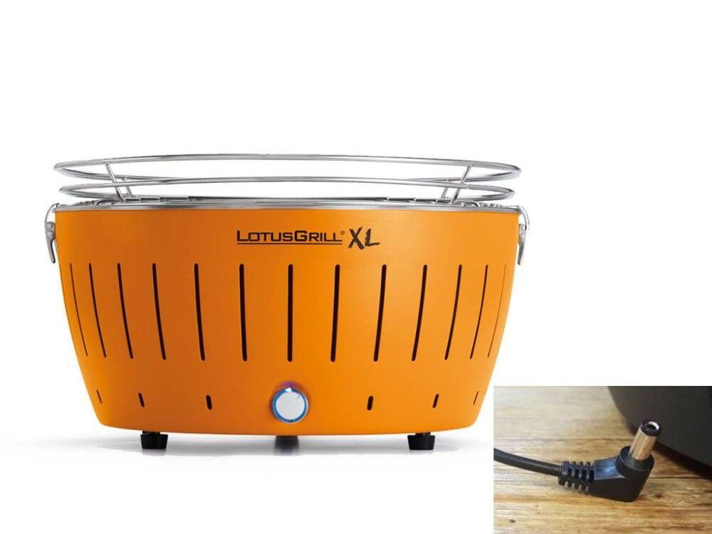 lotusgrill barbecue a carbonella portatile xl orange lg g435 u or lotus grill