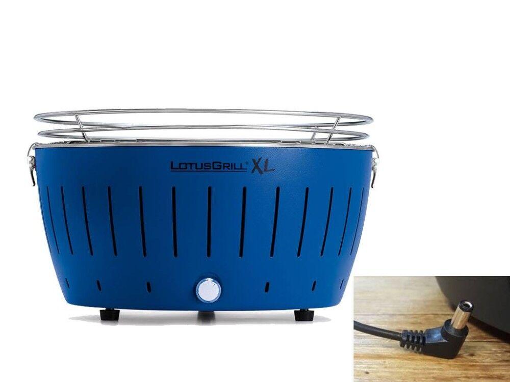 lotusgrill barbecue a carbonella portatile xl blu lg g435 u bl lotus grill