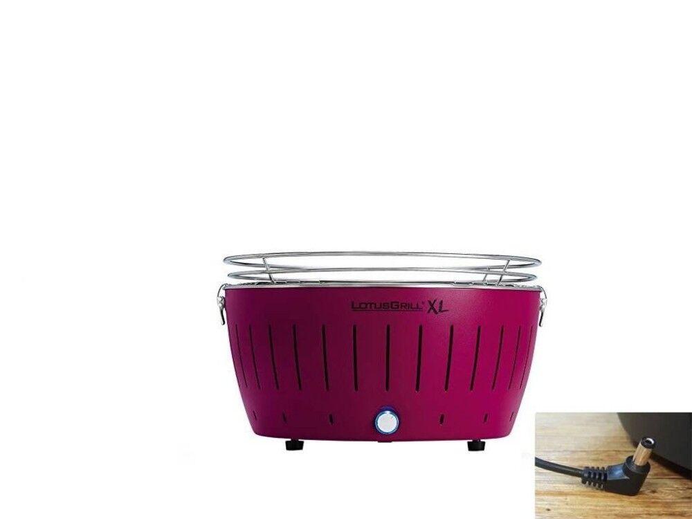 lotusgrill barbecue a carbonella portatile xl purple lg g435 u pu lotus grill