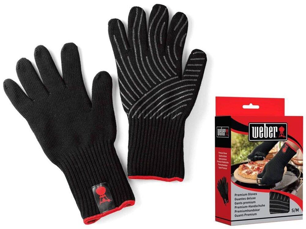 weber coppia di guanti (taglia s/m) per barbecue 6669