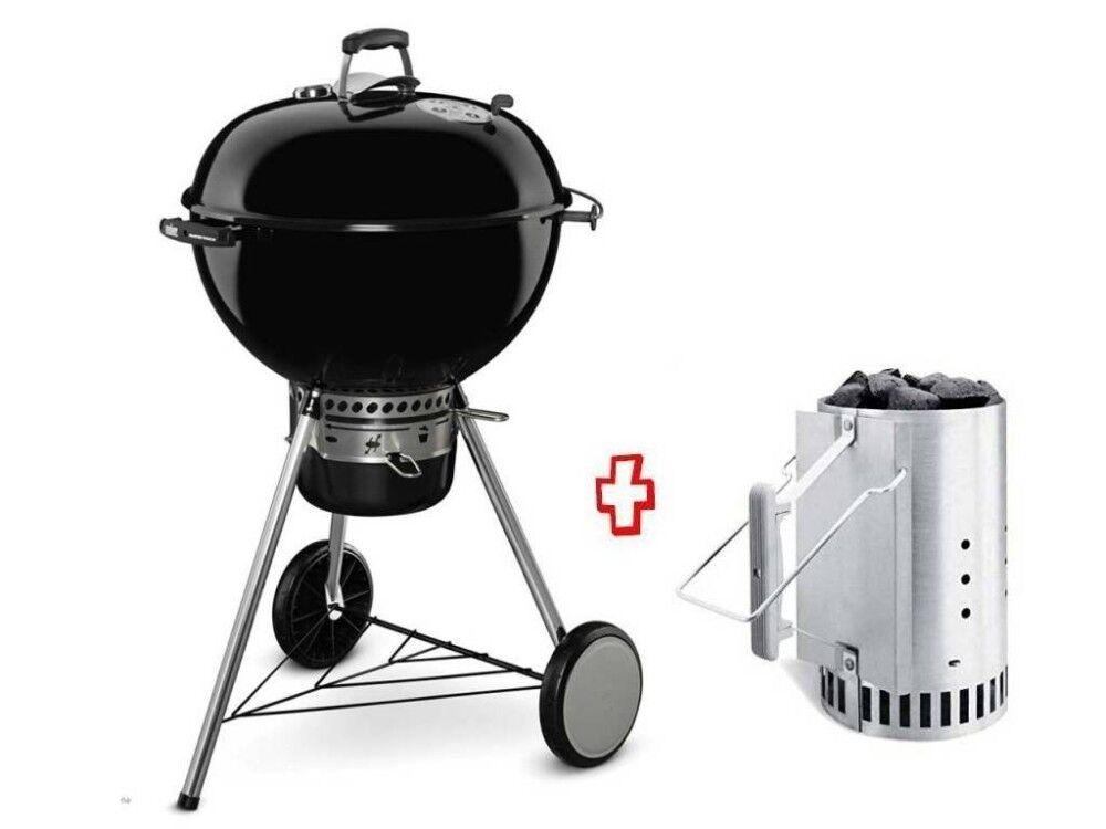 Weber Barbecue A Carbonella Promo Kit 17851 Master-Touch Gbs E-5750 Ø57 Cm Black 14701004 + 17631 Ciminiera Accensione