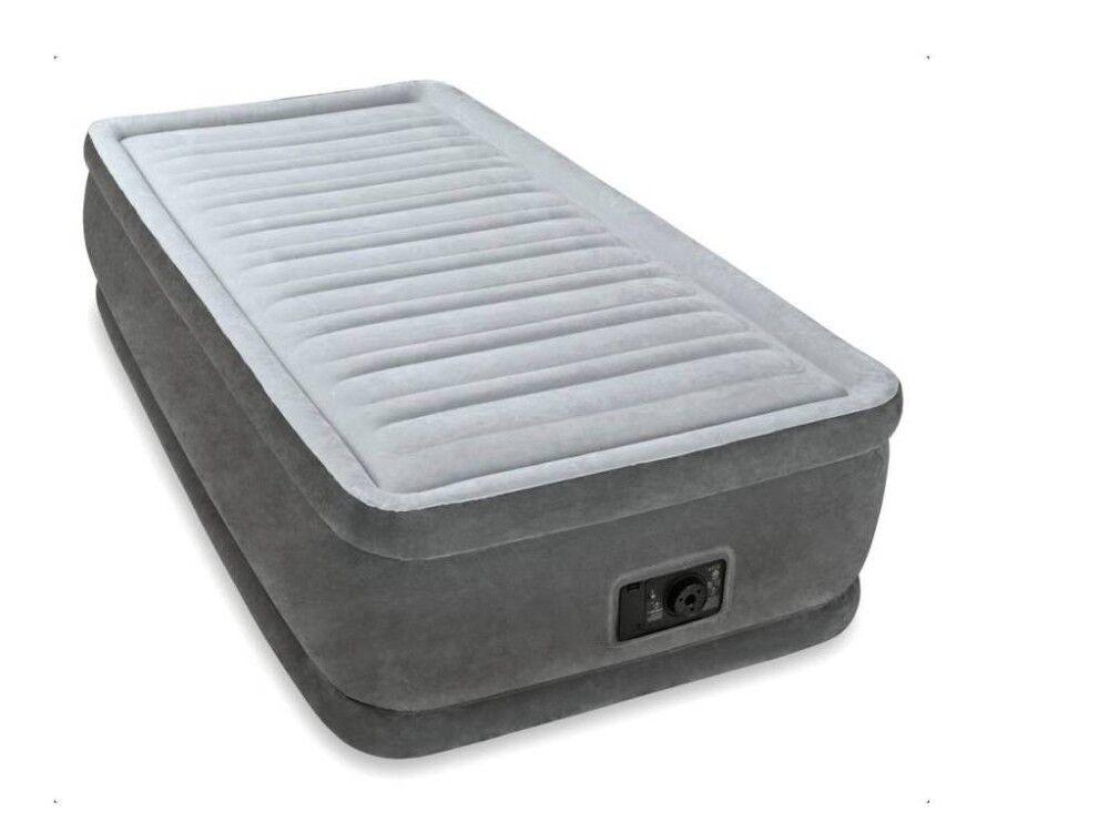 Bertoni Materassino Con Gonfiatore Elettrico Comfort-Plush Twin 64412 Intex