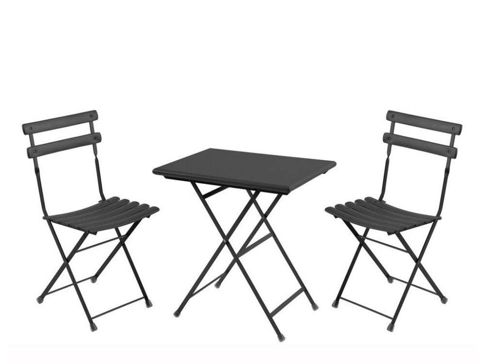 emu set 1 tavolo + 2 sedie arc en ciel ferro antico 3513 f.a.