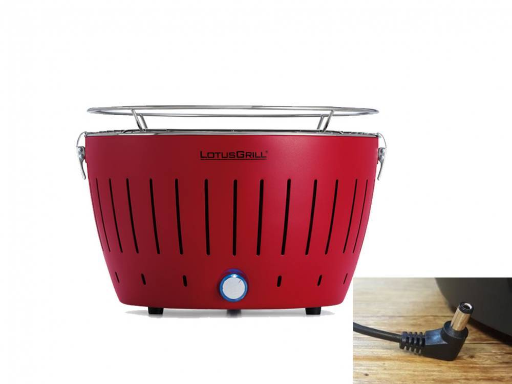lotusgrill barbecue a carbonella portatile rosso lg g34 u rd lotus grill
