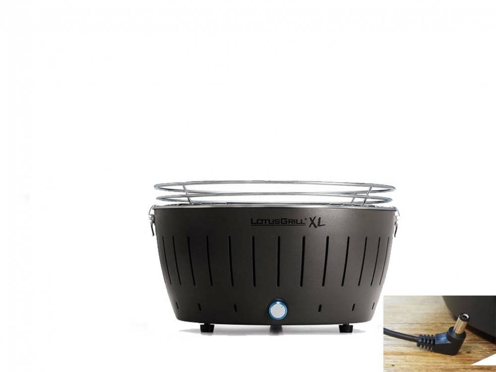 lotusgrill barbecue a carbonella portatile xl black lg g435 u bk lotus grill