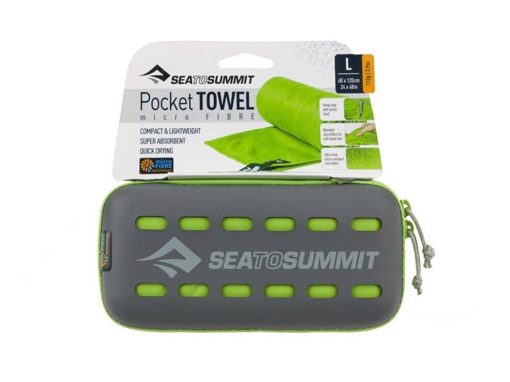 Sea to Summit Asciugamano Microfibra Pocket Towel Lime 120 X 60cm Dseminilzz00