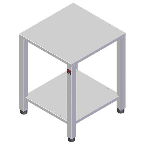 Tecnoeka Tavolo in Acciaio Inox 430 con Ruote, Cm. 78,5 x 67 x 83 h