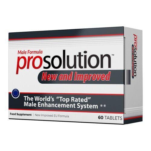 Prosolution 60 Pastiglie per Erezione - Integratori per Erezione Maschile e Disfunzione Erettile Nuova Formula Naturali con Ginseng, Maca e L-Arginina