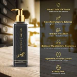 Eco Masters Gold Edition Latte Corpo Gold Edition 250 ml - Latte Idratante e Schiarente - Eco Masters