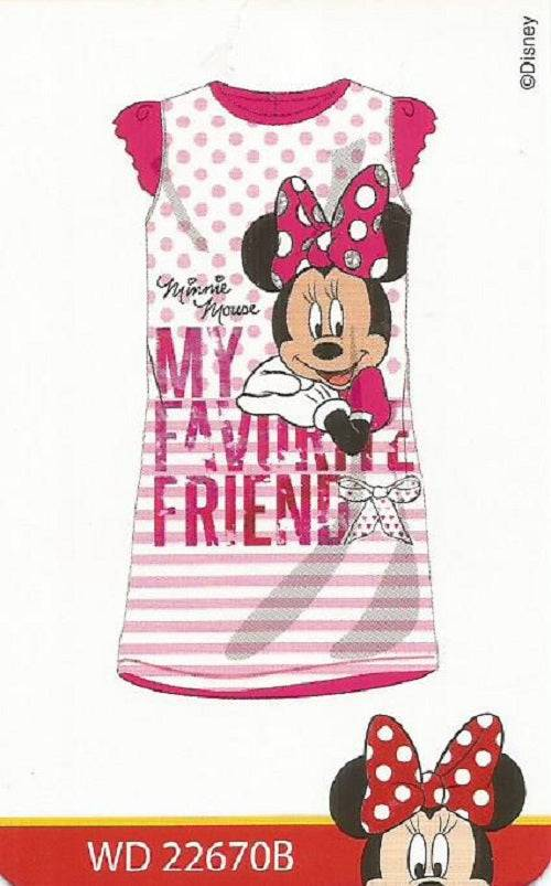 PLANETEX Camicia Da Notte Cotone M/m Minnie Art.22670b Colore Foto Misura A Scelta