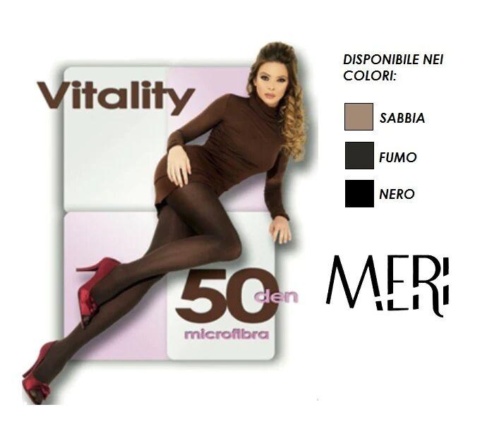 meri 6 collant donna in microfibra 50 den. art. 46 vitality col. e mis. a scelta
