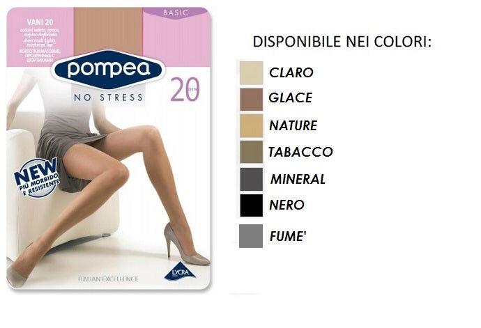 pompea 6 collant donna art vani 20 colore e misura a scelta