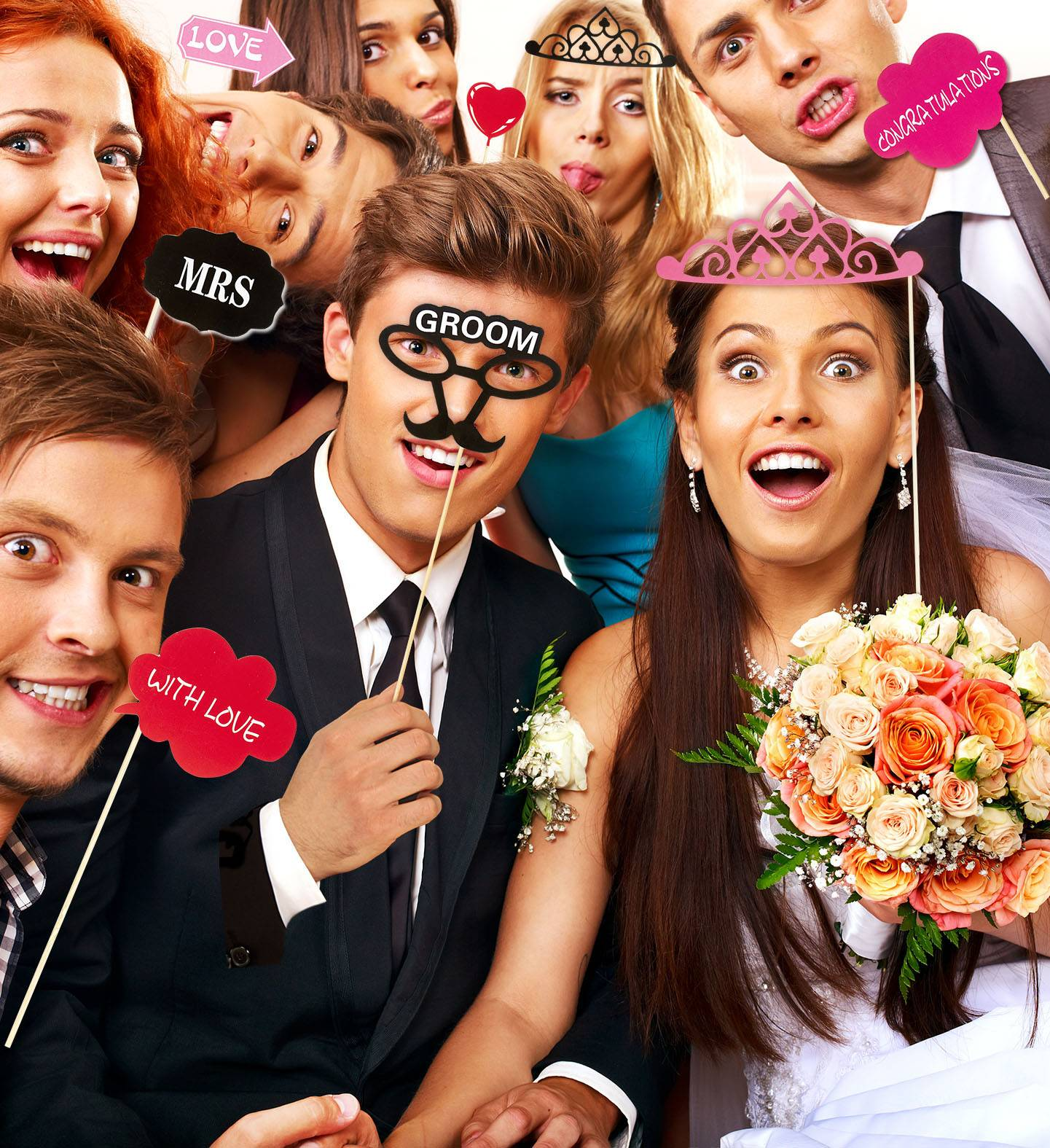 WIDMANN S.R.L. 20 Selfie Stick Sposo E Sposa E Tutti Gli Amici
