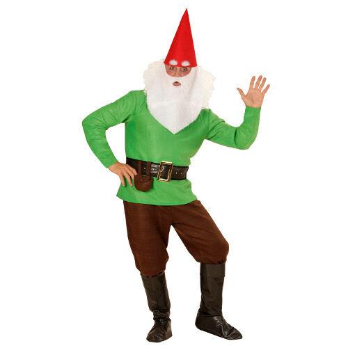DIVERTILANDIA Costume Da Gnomo Verde Biancaneve Carnevale