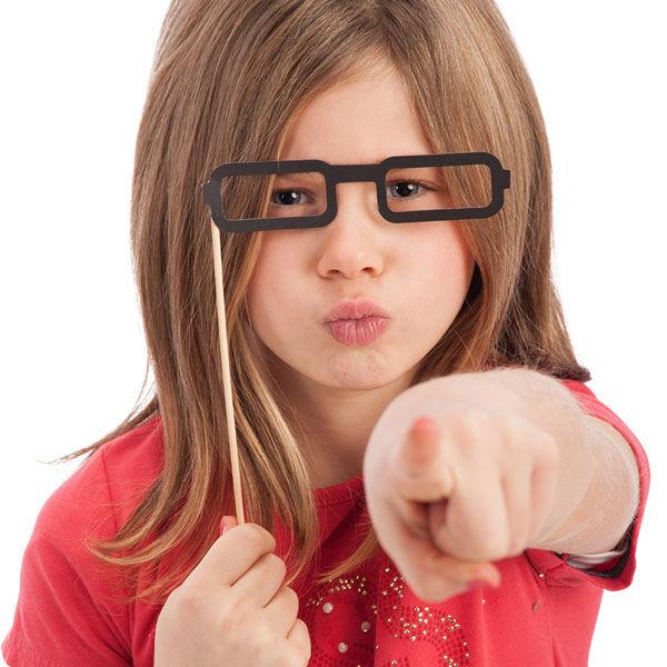 CARNIVAL TOYS S.R.L. 6 Selfie Stick Con Occhiali Rettangolari