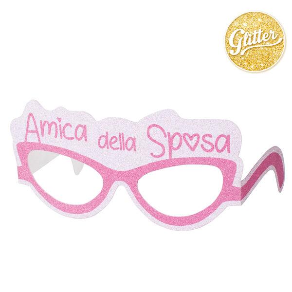 GIVI ITALIA S.R.L. 6 Selfie Stick Occhiali Amica Della Sposa Con Glitter