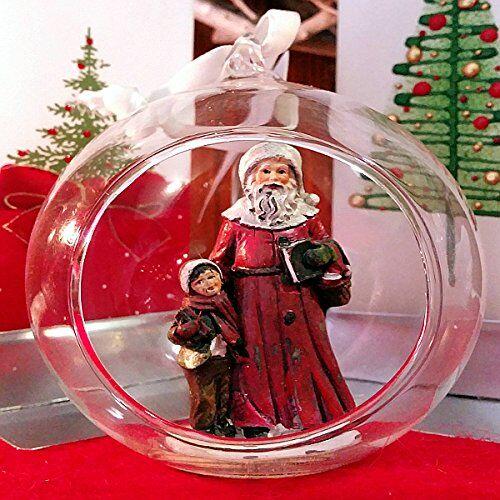OLD & NEW S.R.L. Sfera Natale Vetro Rosso