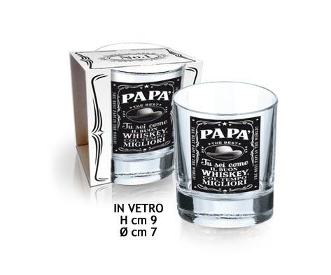 DOR IMPORT SRL Bicchiere Whiskey Festa Del Papa'