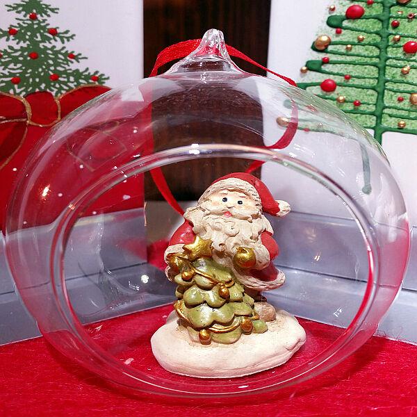 OLD & NEW S.R.L. Sfera Con Babbo Natale Da Appendere