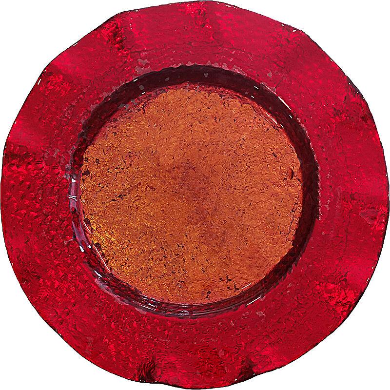 DIVERTILANDIA Sottopiatto Rosso/oro In Vetro Cm 33.5 Natale