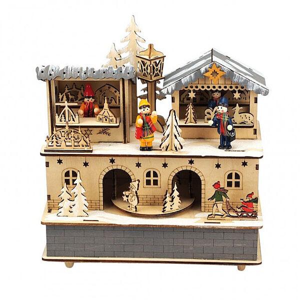 IL MONDO DEI CARILLON SRL Carillon In Legno Mercatino Di Natale