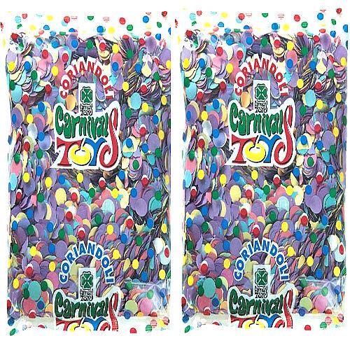 DIVERTILANDIA 2 Buste Coriandolone Multicolor Da 350 Grammi