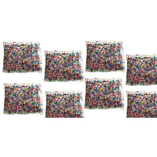 DIVERTILANDIA 8 Buste Di Coriandoli Multicolor Da 100 Grammi