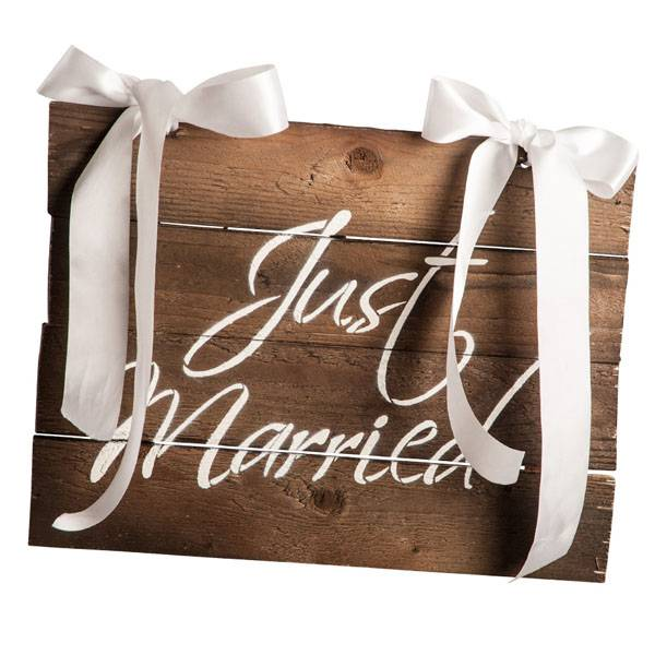 CARNIVAL TOYS S.R.L. Segnaposto Just Married Cm 27x37