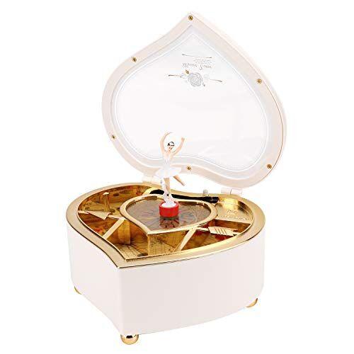 phogary carillon a forma di ballerina a forma, ballerina dancing meccanica portagioie musical box, per bambini e amici per compleanno/san valentino