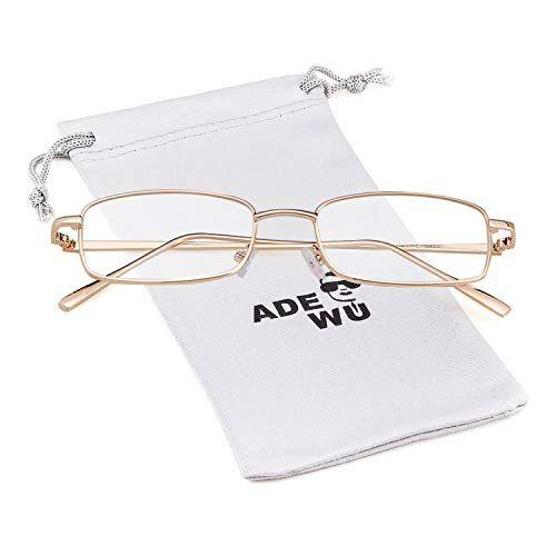 ADEWU Occhiali da sole quadrati Moda Occhiali retr per donna Uomo