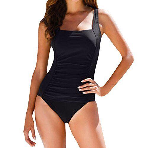 UFACE Il Costume da Bagno Intero di Grandi Dimensioni Estate Cinturino Bikini Sexy Allentato Sottile Moda Allentata Spiaggia Moda Auto-Raccolta Raccogliere Comfort Casual Sottile Spiaggia Allentata