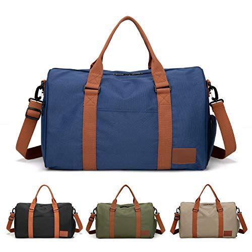 feduan bagaglio a mano con porta scarpe, borsa da allenamento fitness palestra sportiva viaggio di alta qualit, tracolla uomo donna tempo libero allenamento viaggi blu