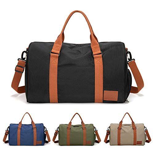 feduan bagaglio a mano con porta scarpe, borsa da allenamento fitness palestra sportiva viaggio di alta qualit, tracolla uomo donna tempo libero allenamento viaggi nero